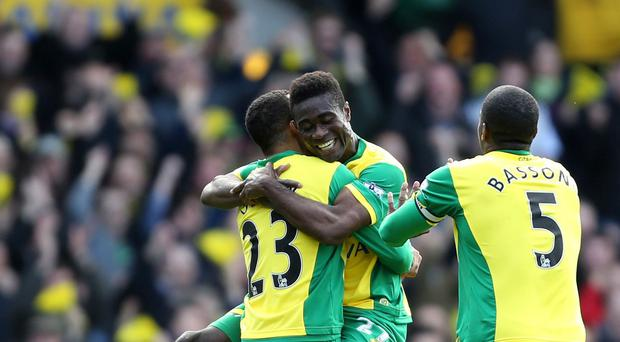 Norwich City's Alex Tettey scored a sensational goal for his side