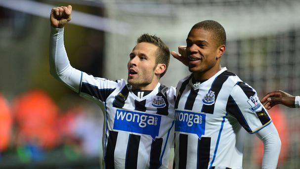 Newcastle manager Alan Pardew is adamant departed midfielder Yohan Cabaye (left) will be replaced this summer