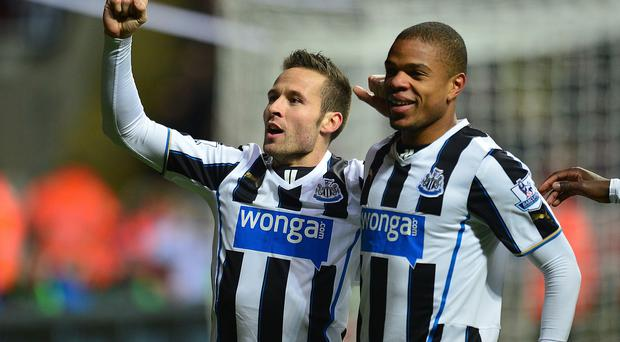 Newcastle United boss Alan Pardew says they will replace the departed Yohan Cabaye, left