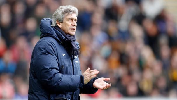 Manuel Pellegrini's side are 12 points better off than their city rivals United