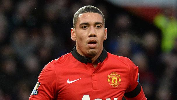 Chris Smalling, pictured, has been disciplined by Manchester United boss David Moyes