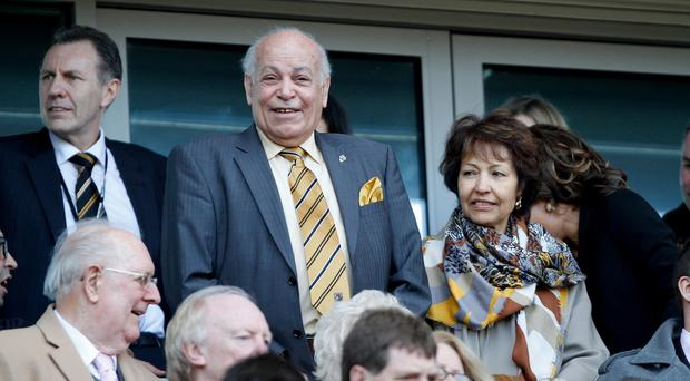 West Ham manager Sam Allardyce has questioned the desire of Hull owner Assem Allam (pictured, centre) to change the club's name