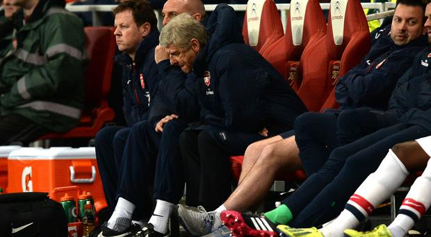Arsenal manager Arsene Wenger was frustrated by his side's performance