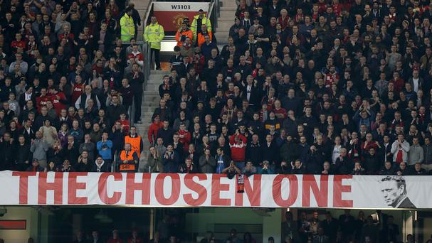 Controversy continues over the David Moyes 'The Chosen One' banner at Old Trafford .