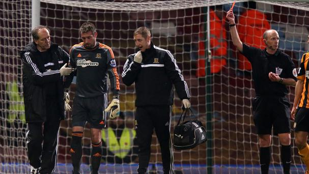 Allan McGregor has won his appeal against his red card at West Ham but is still set to miss the rest of the season