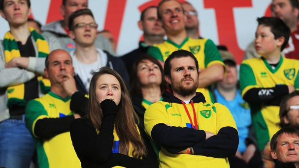 Norwich fans watched on as their side got beat 3-0 at Swansea