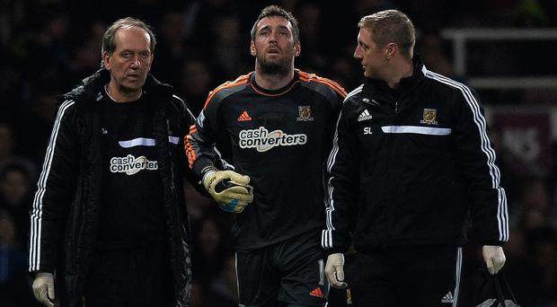 Allan McGregor, centre, could be back playing in six weeks' time