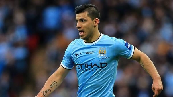 Sergio Aguero has missed a chunk of this season through injury