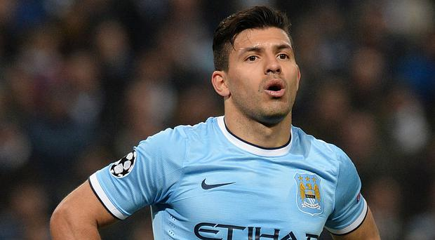 Sergio Aguero could return to face Liverpool