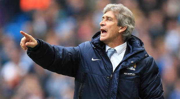 Manuel Pellegrini's side have two games in hand on Sunday's opponents Liverpool