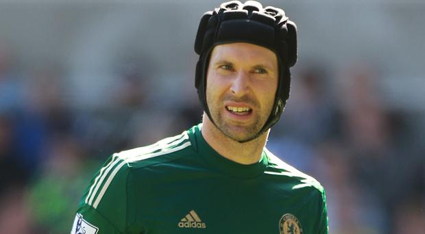 Petr Cech's Chelsea will face title rivals Liverpool on April 27