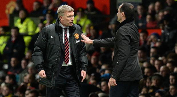 David Moyes, left, returns to Everton this weekend
