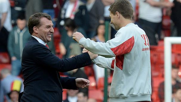 Steven Gerrard, right, believes Brendan Rodgers can build a dynasty at Liverpool