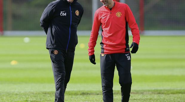 Ryan Giggs has been tipped to take over from David Moyes in the Manchester United hotseat until the end of the season getty