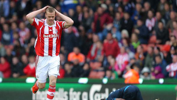 Danny Rose, right, became a hate figure for Stoke fans after Ryan Shawcross, left, was sent off