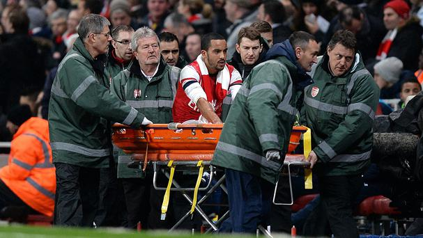 Arsenal and England forward Theo Walcott is recovering from a serious knee injury