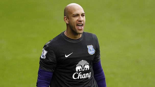 Everton goalkeeper Tim Howard has no doubts they will raise their game against Manchester City