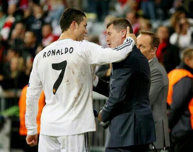 Ronaldo and Roy Keane