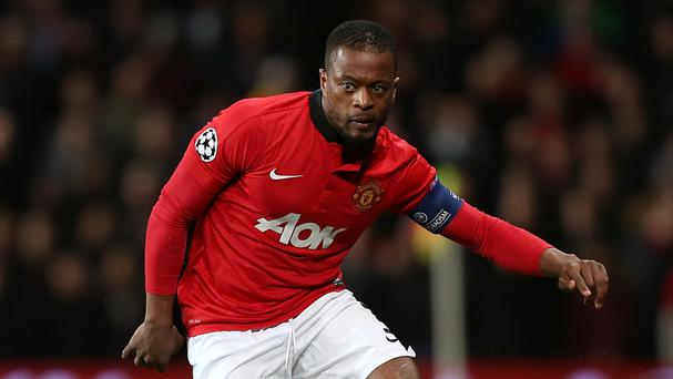 Patrice Evra could be set to link up with Nemanja Vidic at Inter Milan.