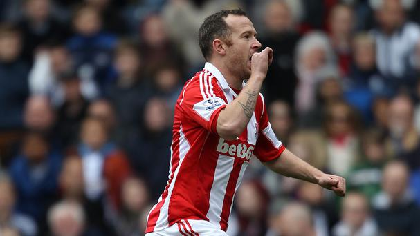 Charlie Adam's late strike won the game for Stoke