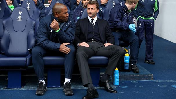 Tim Sherwood, right, could have sat in the Tottenham dugout for the final time