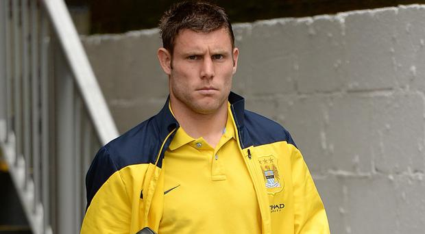 James Milner, pictured, says Manchester City deserve credit for refusing to give up on their title quest