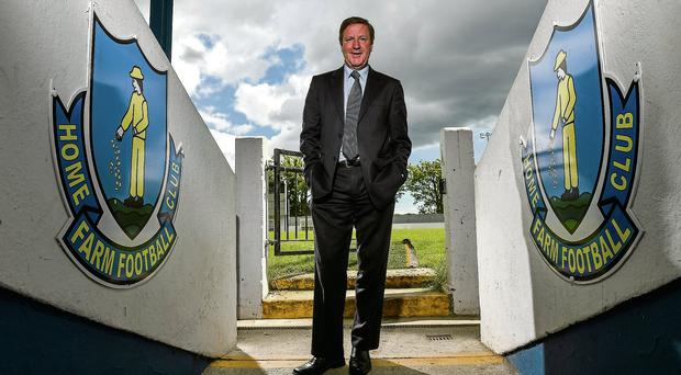 Former Republic of Ireland International and Liverpool player Ronnie Whelan was at his old club Home Farm FC to launch the 2014 Irish Football National Draw with €200,000 worth of prizes for clubs and leagues