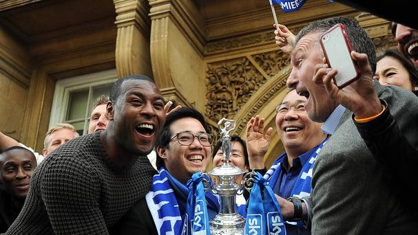 Chairman Vichai Srivaddhanaprabha, centre right, has big plans for Leicester