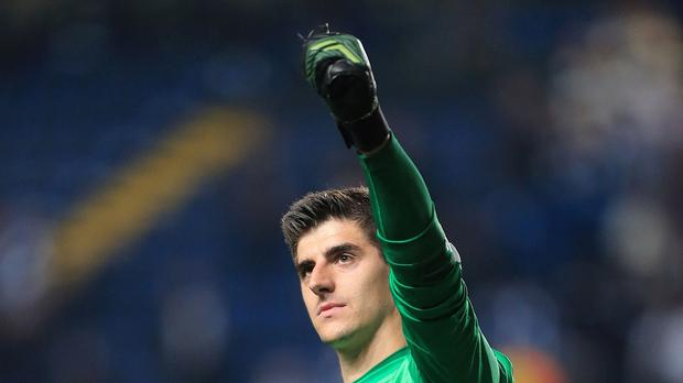 0669e67b32a Chelsea goalkeeper Thibaut Courtois is on loan at Atletico Madrid