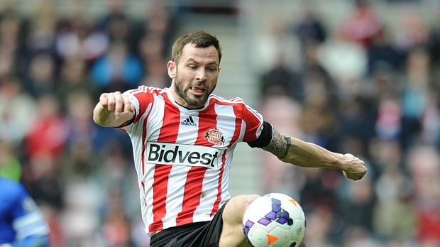 Phil Bardsley has joined the Potters on a three-year deal.