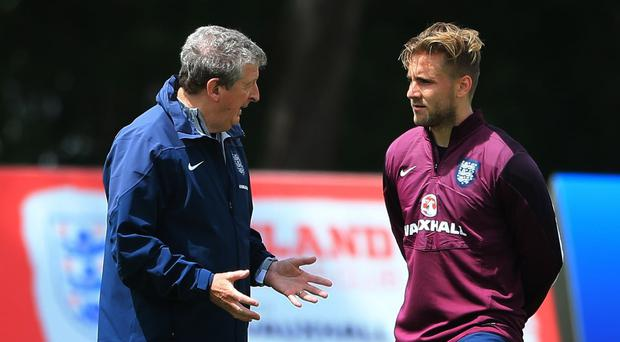 Luke Shaw, right, is focused on England and the World Cup