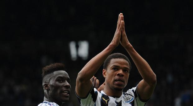 Alan Pardew has denied allowing loan striker Loic Remy, right, to miss Newcastle's final game of the season with a fictional injury