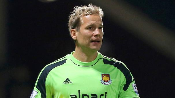Jussi Jaaskelainen joined West Ham in 2012