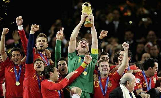 Spain were crowned world champions in South Africa in 2010.