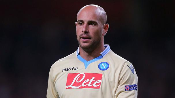 Pepe Reina spent last season on loan at Napoli