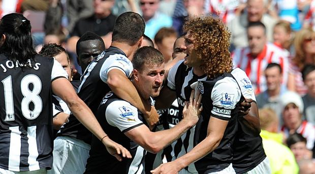 Newcastle's Ryan Taylor, centre, turned to Alan Shearer and Michael Owen as he fought his way back from an injury nightmare