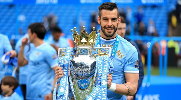 Alvaro Negredo won the Premier League title in his first season at the Etihad Stadium