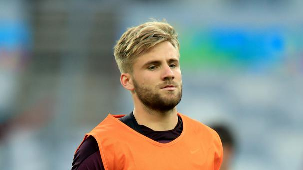 England defender Luke Shaw appears to be on his way to Manchester United