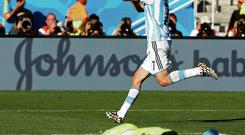 Ángel di María during the 2014 World Cup for Argentina