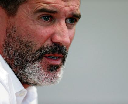 Roy Keane answers questions at a press conference in Birmingham where he was unveiled as Aston Villa's assistant manager