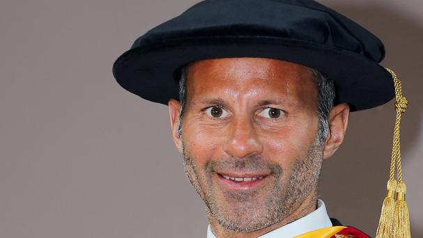 Ryan Giggs received his doctorate for outstanding contribution to sport on Friday