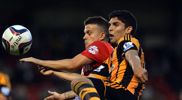 Joe Dudgeon, right, joined Hull City in 2011 but has been plagued by injury problems