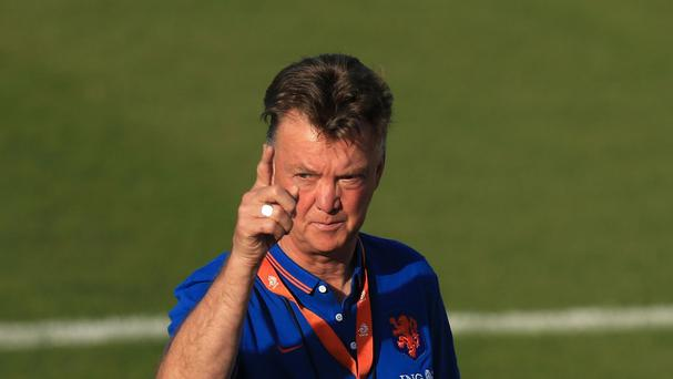 Louis van Gaal, pictured, is set to begin work as Manchester United manager almost as soon as his World Cup involvement ends