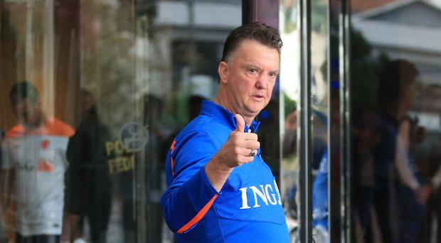 Louis van Gaal bgan his job as Manchester United manager on Wednesday