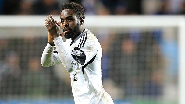 Nathan Dyer scored for Swansea in a 1-1 draw with Chivas Guadalajara