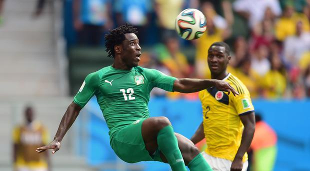 Wilfried Bony, left, joined Swansea last summer for a club-record fee