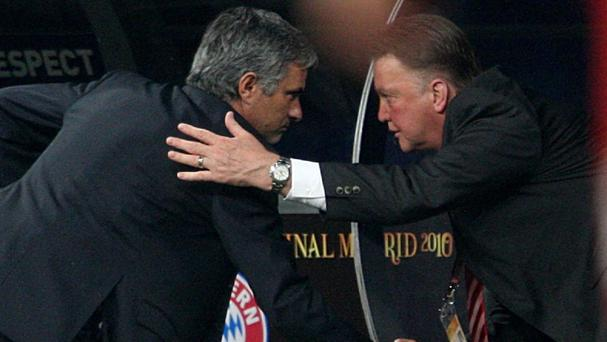 Jose Mourinho, left, and Louis Van Gaal, right, are good friends
