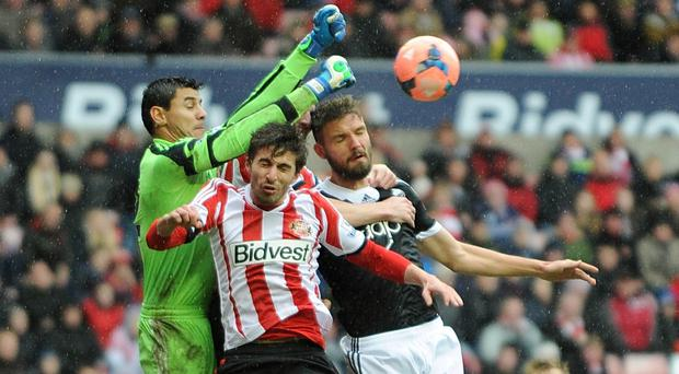 Ignacio Scocco, centre, leaves the Premier League without finding the net