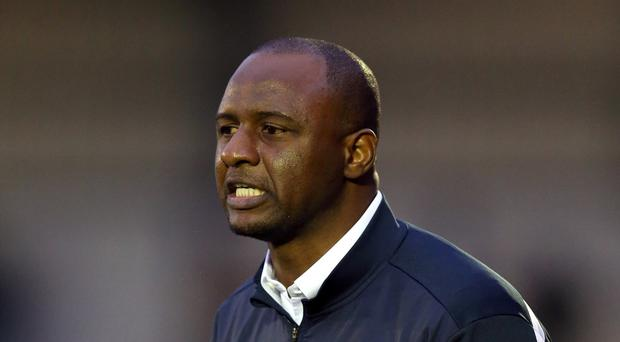 Patrick Vieira took his Manchester City side off the pitch amid racism allegations