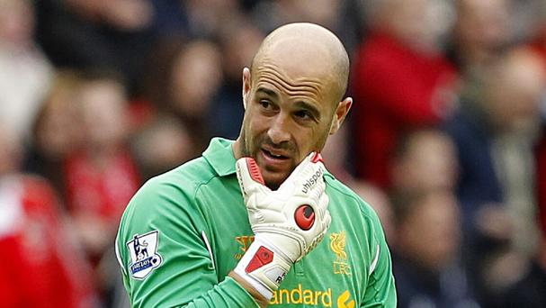 Jose Reina is back training with Liverpool